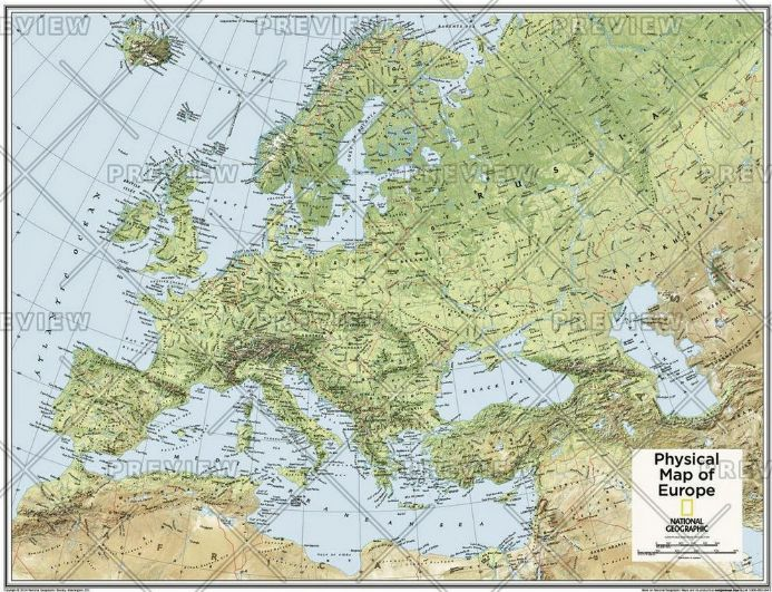 Europe Physical - Atlas of the World, 10th Edition by National Geographic